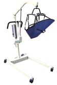 a patient in patient lift equipment